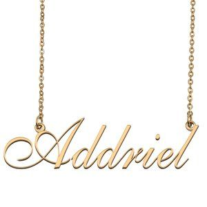 Custom Personalized Addriel Name Necklace